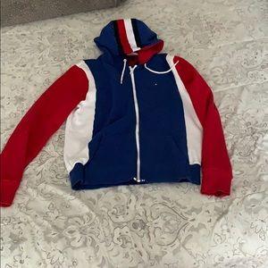 Tommy hilfiger zip up sweater medium